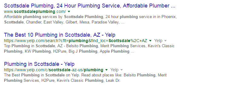 Local SEO Organic Listing Section On Google Search