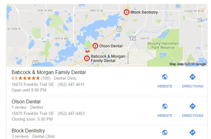 Dentist Google Maps Marketing