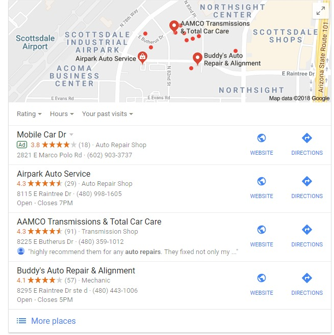 Google Showing Bolded Queries In Google Reviews