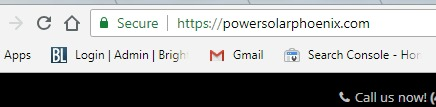 Site Showing Secure Message In Chrome